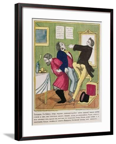 A Dentist Pulling a Tooth, 1857--Framed Art Print
