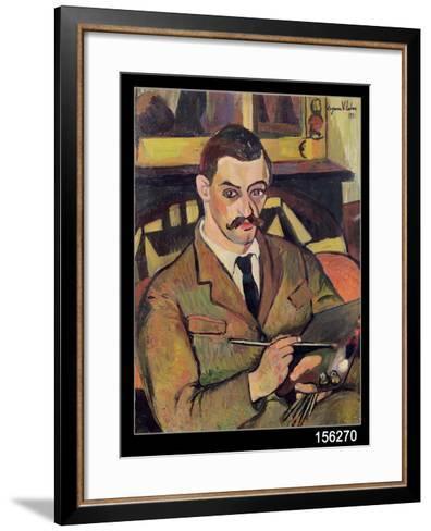 Portrait of Maurice Utrillo-Suzanne Valadon-Framed Art Print