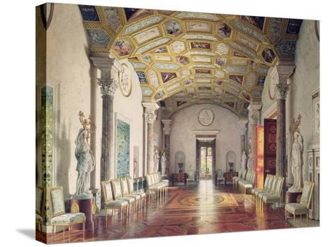 The Great Agate Hall in Catherine Palace in Tsarskoye Selo, 1859-Luigi Premazzi-Stretched Canvas Print