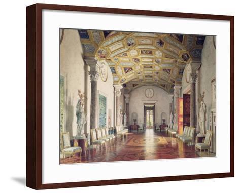 The Great Agate Hall in Catherine Palace in Tsarskoye Selo, 1859-Luigi Premazzi-Framed Art Print