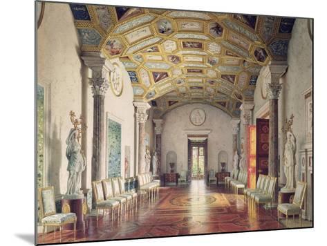 The Great Agate Hall in Catherine Palace in Tsarskoye Selo, 1859-Luigi Premazzi-Mounted Giclee Print
