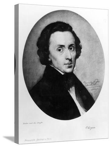 Chopin, 1858-Ary Scheffer-Stretched Canvas Print