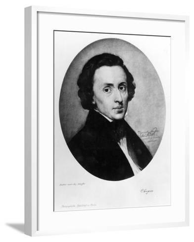 Chopin, 1858-Ary Scheffer-Framed Art Print