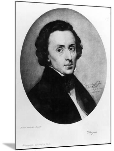 Chopin, 1858-Ary Scheffer-Mounted Giclee Print
