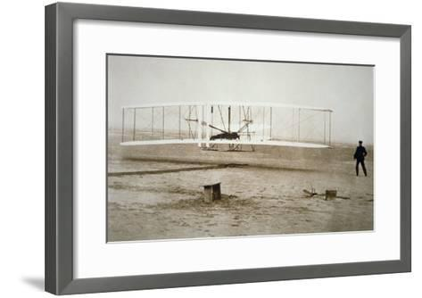 The Wright Brothers Making their First Powered Flight, 17th December, 1903--Framed Art Print