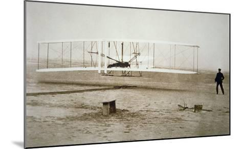 The Wright Brothers Making their First Powered Flight, 17th December, 1903--Mounted Giclee Print