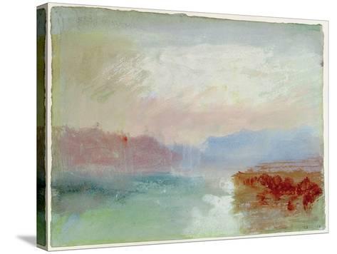 River Scene, 1834-J^ M^ W^ Turner-Stretched Canvas Print
