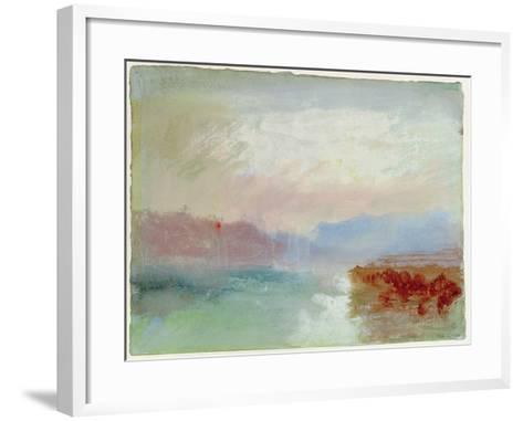 River Scene, 1834-J^ M^ W^ Turner-Framed Art Print