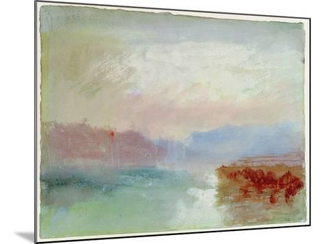 River Scene, 1834-J^ M^ W^ Turner-Mounted Giclee Print