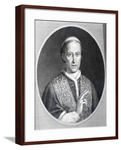 Pope Leo Xii, Engraved by Raffaele Persichini-Agostino Tofanelli-Framed Art Print