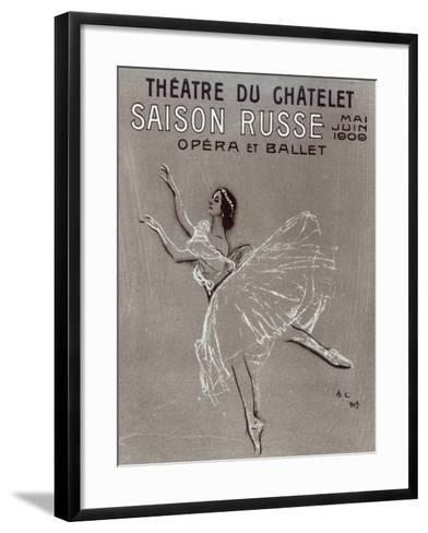 Poster for the 'saison Russe' at the Theatre Du Chatelet, 1909-Valentin Aleksandrovich Serov-Framed Art Print