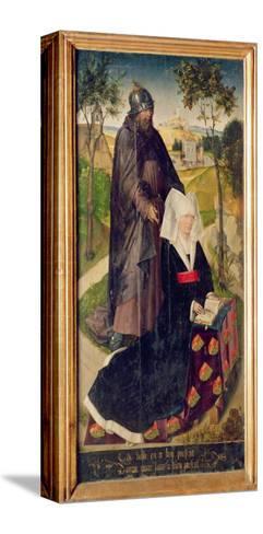 Guillemette De Montagu with Saint Guillaume, 1460-66-Rogier van der Weyden-Stretched Canvas Print