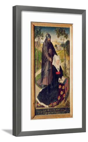 Guillemette De Montagu with Saint Guillaume, 1460-66-Rogier van der Weyden-Framed Art Print