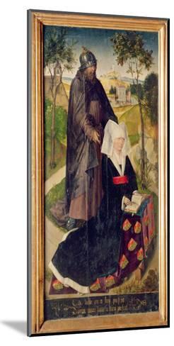 Guillemette De Montagu with Saint Guillaume, 1460-66-Rogier van der Weyden-Mounted Giclee Print