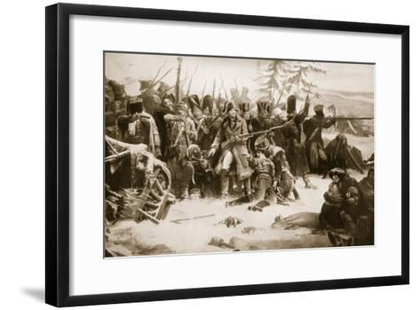 Marshal Ney Supporting the French Rearguard-Adolphe Yvon-Framed Art Print