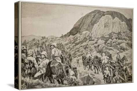 Going Out to the Attack on Spion Kop on January 24Th-Richard Caton Woodville-Stretched Canvas Print