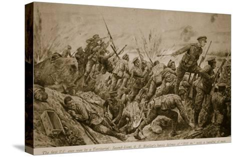 Second Lieutenant G.H. Woolley's Heroic Defence of 'Hill 60' with a Handful of Men-Richard Caton Woodville-Stretched Canvas Print