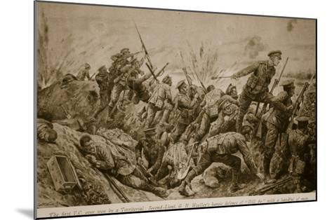 Second Lieutenant G.H. Woolley's Heroic Defence of 'Hill 60' with a Handful of Men-Richard Caton Woodville-Mounted Giclee Print