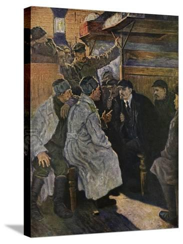 Lenin Returning from Abroad in 1917 on the Train from Finland--Stretched Canvas Print