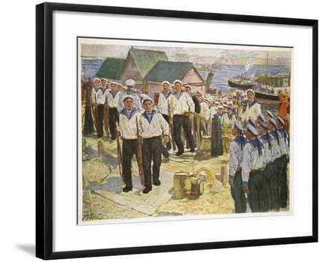 Kronstadt Sailors Landing in Petrograd for the July Demonstration--Framed Art Print