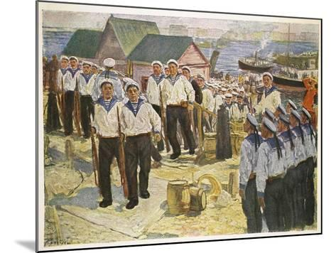 Kronstadt Sailors Landing in Petrograd for the July Demonstration--Mounted Giclee Print