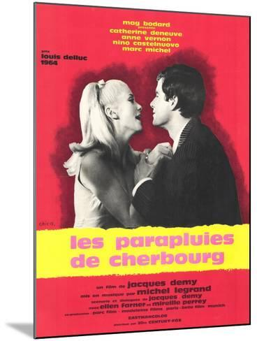 The Umbrellas of Cherbourg, French Movie Poster, 1964--Mounted Art Print
