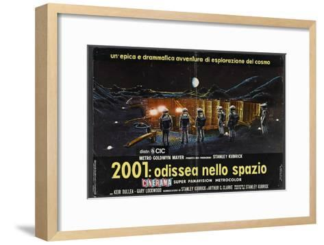 2001: A Space Odyssey, Italian Movie Poster, 1968--Framed Art Print