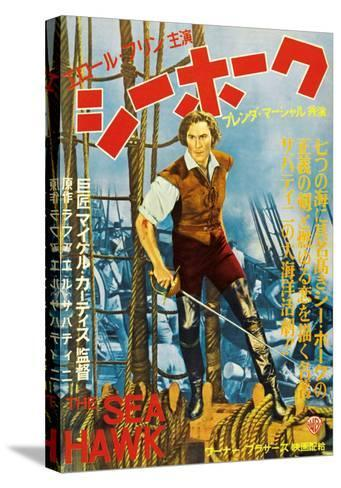The Sea Hawk, Japanese Movie Poster, 1940--Stretched Canvas Print