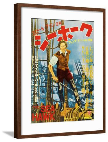 The Sea Hawk, Japanese Movie Poster, 1940--Framed Art Print