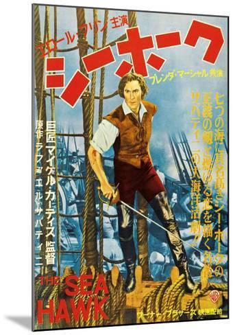 The Sea Hawk, Japanese Movie Poster, 1940--Mounted Art Print