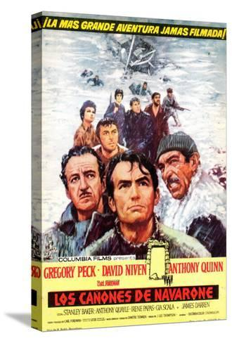 The Guns of Navarone, Spanish Movie Poster, 1961--Stretched Canvas Print