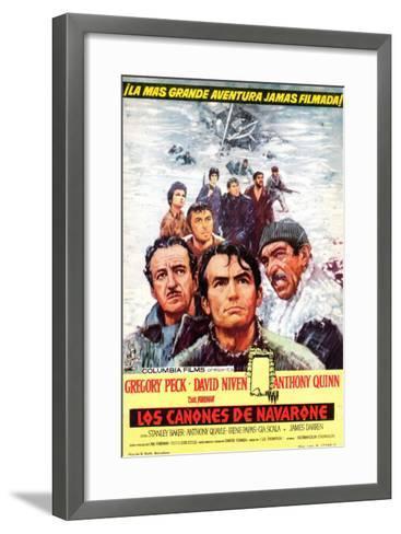 The Guns of Navarone, Spanish Movie Poster, 1961--Framed Art Print