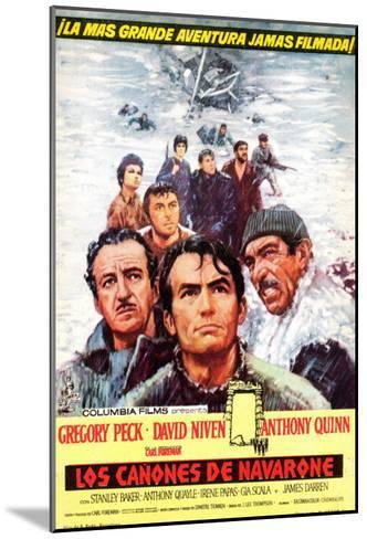 The Guns of Navarone, Spanish Movie Poster, 1961--Mounted Art Print