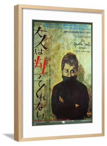 400 Blows, Japanese Movie Poster, 1959--Framed Art Print