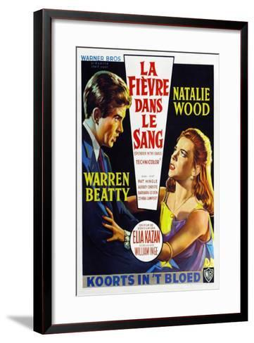 Splendor in the Grass, Belgian Movie Poster, 1961--Framed Art Print