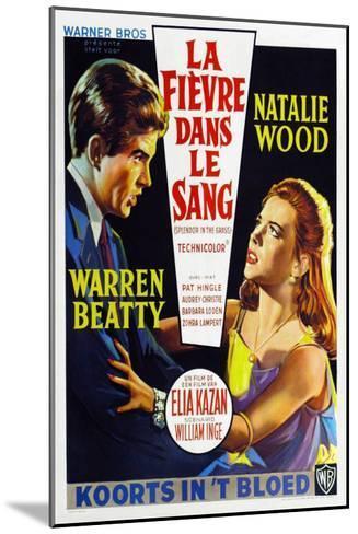 Splendor in the Grass, Belgian Movie Poster, 1961--Mounted Art Print