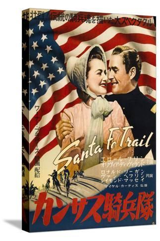 Santa Fe Trail, Japanese Movie Poster, 1940--Stretched Canvas Print