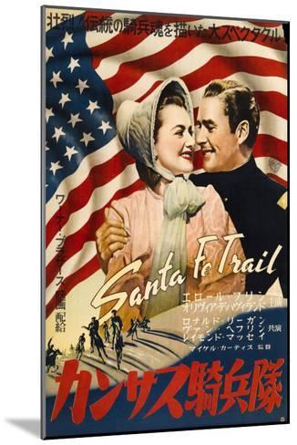 Santa Fe Trail, Japanese Movie Poster, 1940--Mounted Art Print