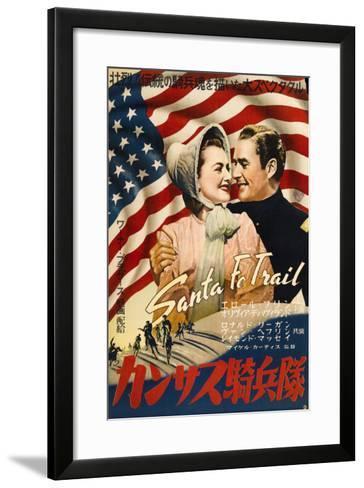 Santa Fe Trail, Japanese Movie Poster, 1940--Framed Art Print