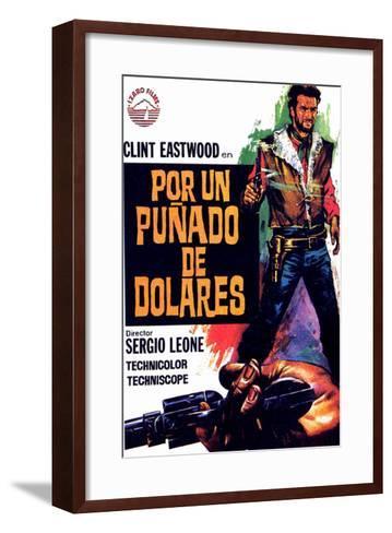 A Fistful of Dollars, Spanish Movie Poster, 1964--Framed Art Print