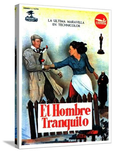 The Quiet Man, Spanish Movie Poster, 1952--Stretched Canvas Print
