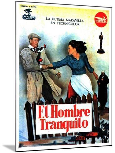 The Quiet Man, Spanish Movie Poster, 1952--Mounted Art Print
