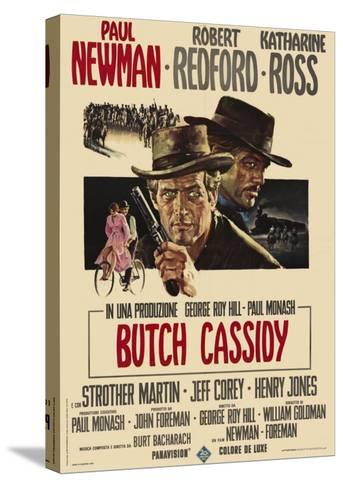Butch Cassidy and the Sundance Kid, Italian Movie Poster, 1969--Stretched Canvas Print