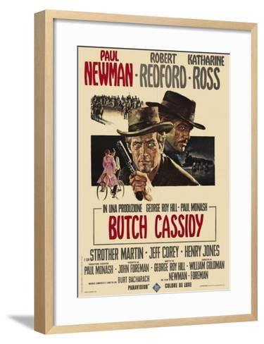 Butch Cassidy and the Sundance Kid, Italian Movie Poster, 1969--Framed Art Print