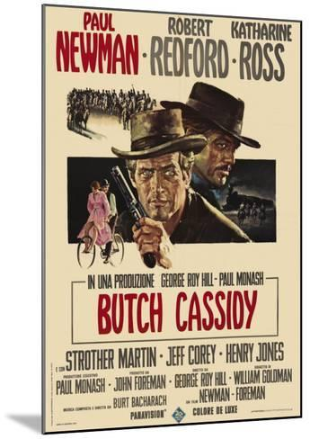 Butch Cassidy and the Sundance Kid, Italian Movie Poster, 1969--Mounted Art Print