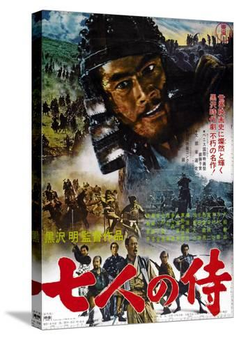 Seven Samurai, Japanese Movie Poster, 1954--Stretched Canvas Print