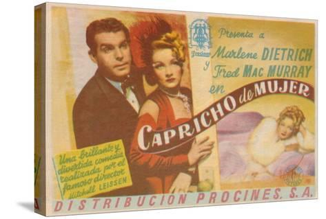 The Lady Is Willing, Spanish Movie Poster, 1942--Stretched Canvas Print