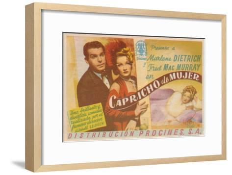 The Lady Is Willing, Spanish Movie Poster, 1942--Framed Art Print