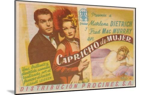 The Lady Is Willing, Spanish Movie Poster, 1942--Mounted Art Print