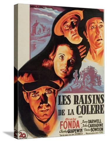 The Grapes of Wrath, French Movie Poster, 1940--Stretched Canvas Print